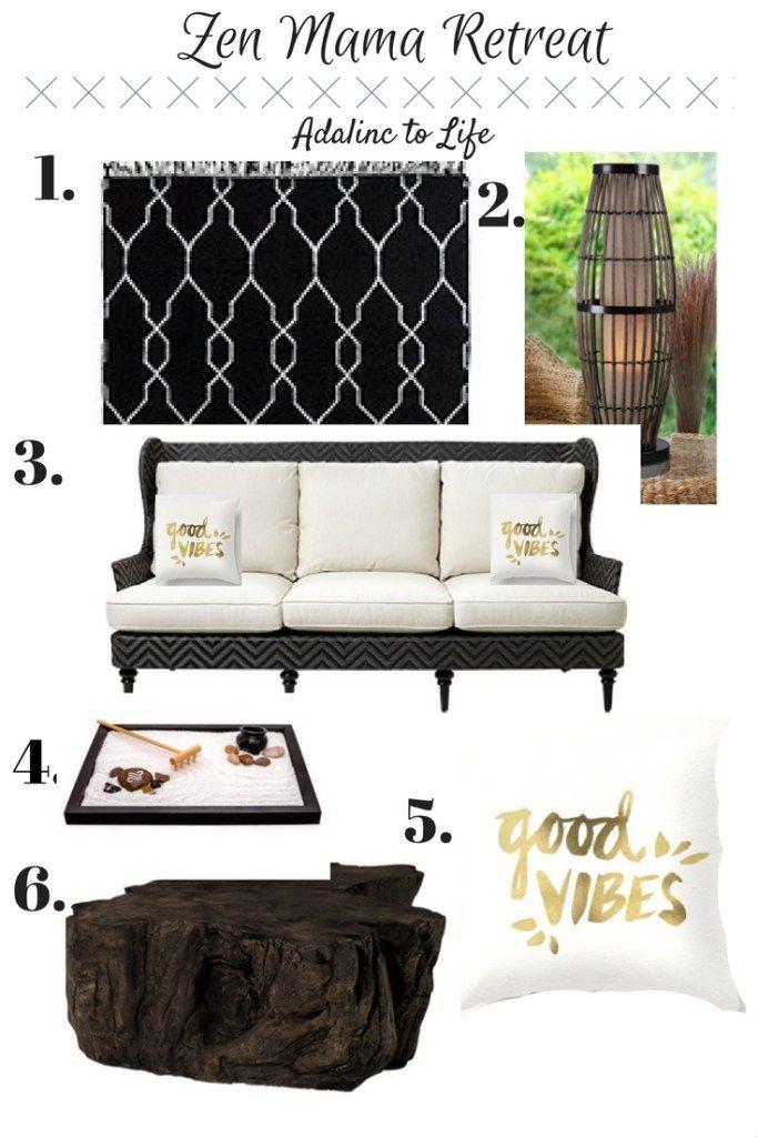 ab836804c2d3 Mood board to inspire a zen mama retreat in your backyard. Patio ideas,  deck furniture ideas