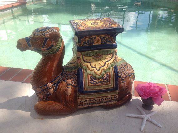 camels garden. Camel Garden Table Seat Plant Stand Camels