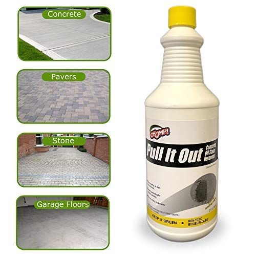 Chomp Pull It Out OilStain Remover for Concrete Grease Remover for Garage Floors  Driv