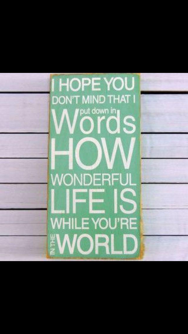 How Wonderful Words