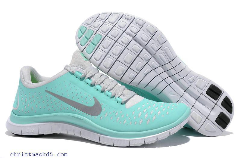 d2e92be7322c Buy Tiffany Blue Nikes Free 3.0 V4 Womens Blue And White Silver 511495 300  - Click Image to Close