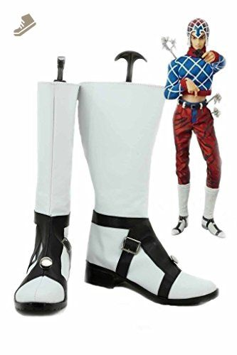 JOJO'S BIZARRE ADVENTURE 5 GUIDO MISTA Cosplay Shoes White Boots Custom Made - Telacos sneakers for women (*Amazon Partner-Link)