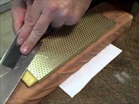 how to sharpen a carving knife with a stone