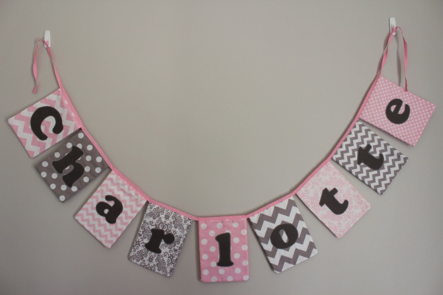 Personalised Name Bunting by BambinoBuntings on Etsy