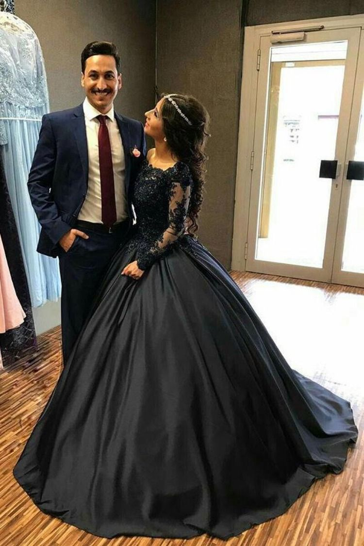 Ball Gown Long Sleeves Navy Blue With Lace Prom Dress Quinceanera Dresses Uk P Prom Dresses Long With Sleeves Black Quinceanera Dresses Long Sleeve Ball Gowns [ 1125 x 750 Pixel ]