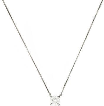 Tiffany & Co. 1.26ctw Diamond Solitare Pendant Necklace