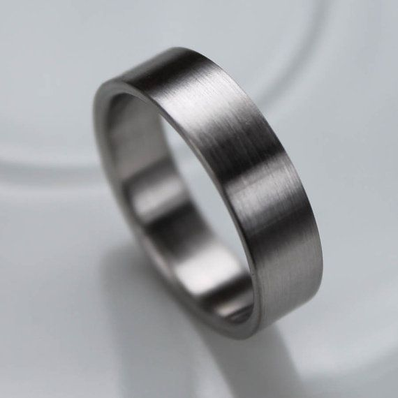 6x15mm Comfort Fit Palladium or Gold Mens Wedding Band Recycled