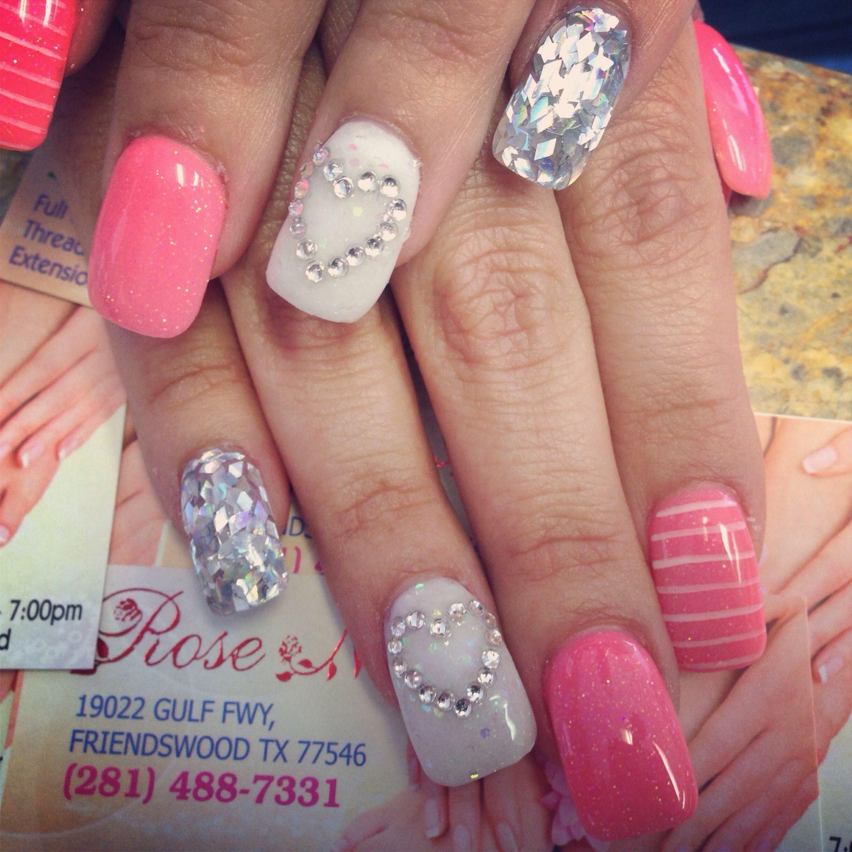Valentine nails design! | Nails | Pinterest | Makeup, Hair makeup ...