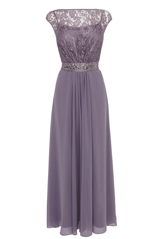 Coast lana lace maxi dress grey
