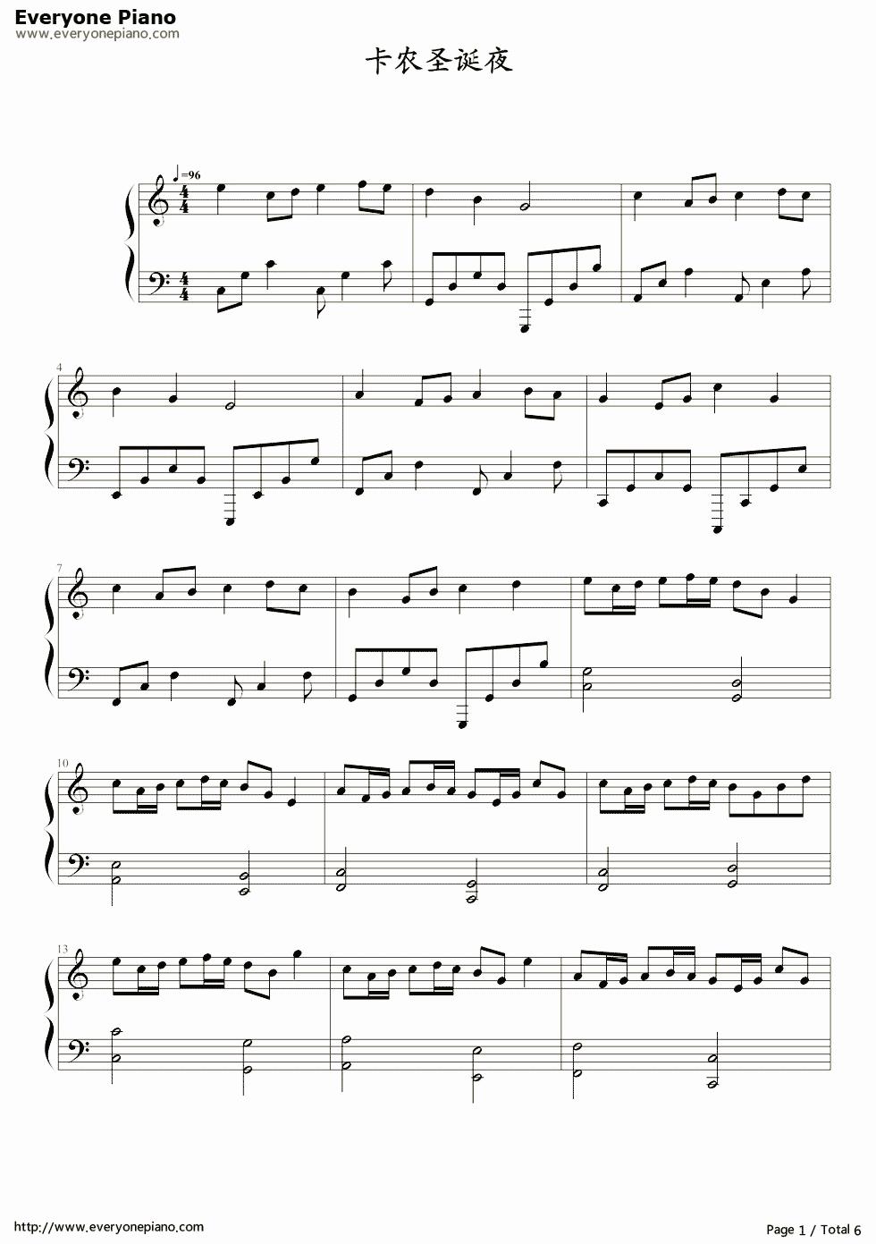 christmas songs sheet music free - Erkal.jonathandedecker.com