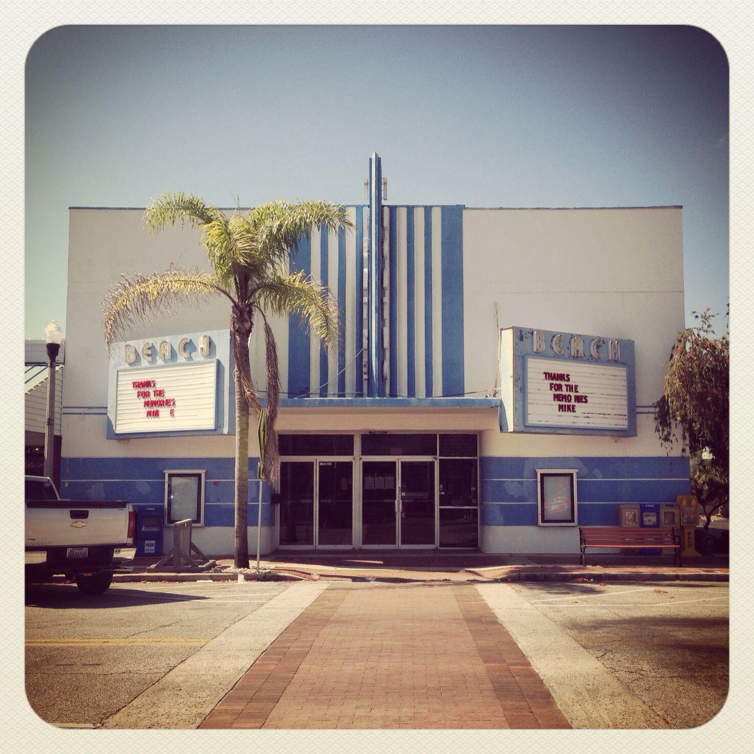 Beach theater at st petes beach florida iconic art
