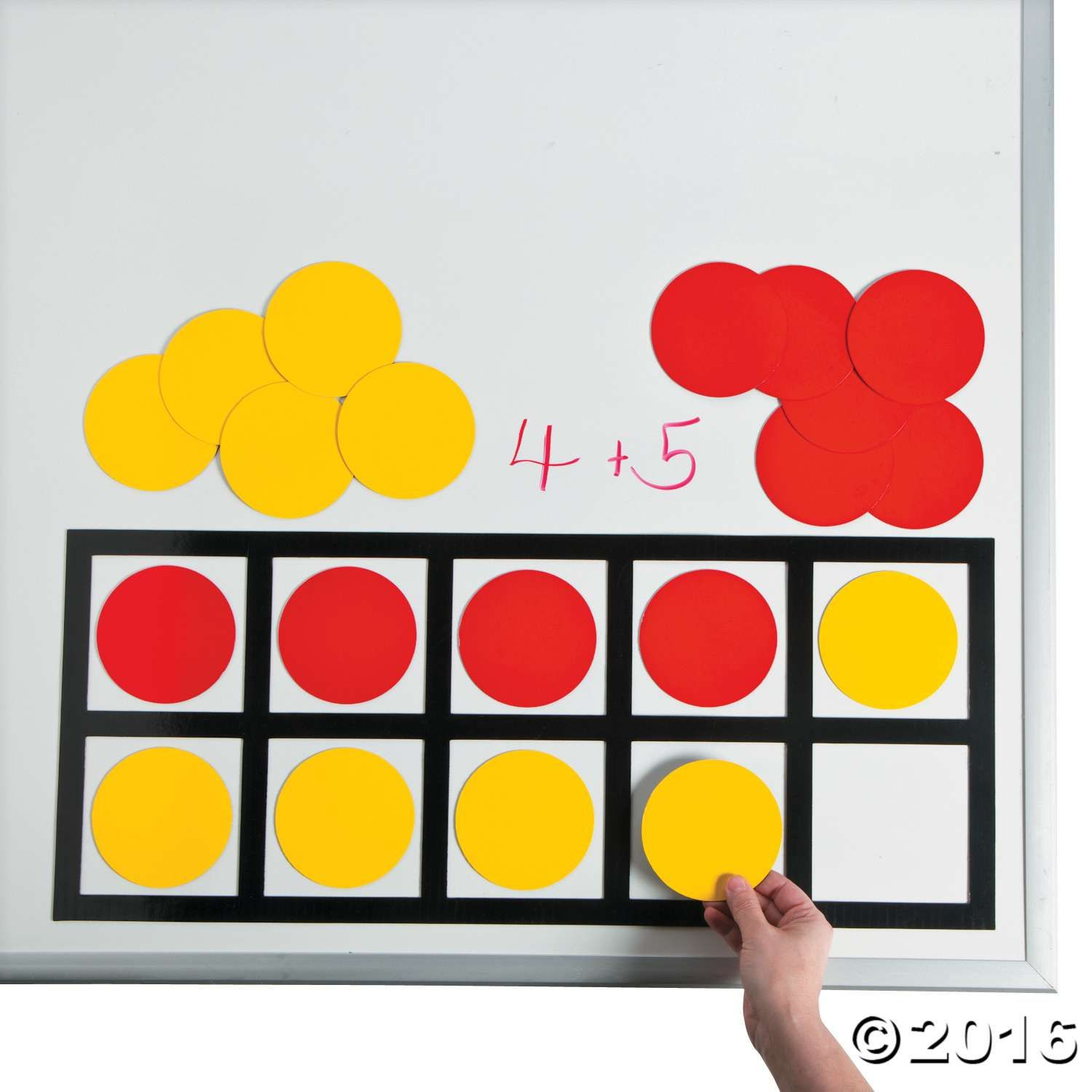 Place These Ten Frame Magnets On Any Magnetic Surface To