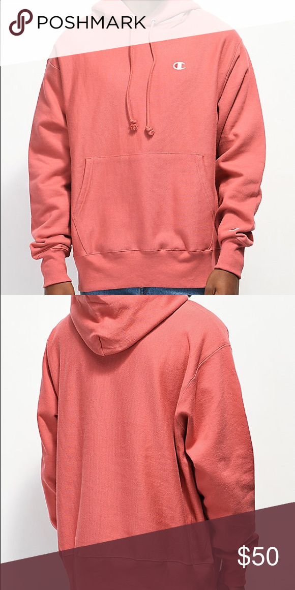 Reverse weave champion hoodie Salmon/pink champion hoodie. In perfect condition and bought from the champion store in Philadelphia! Champion Tops Tees - Long Sleeve #championhoodie