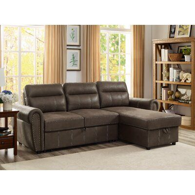 Wrought Studio Ty Reversible Sleeper Sectional Upholstery Colour
