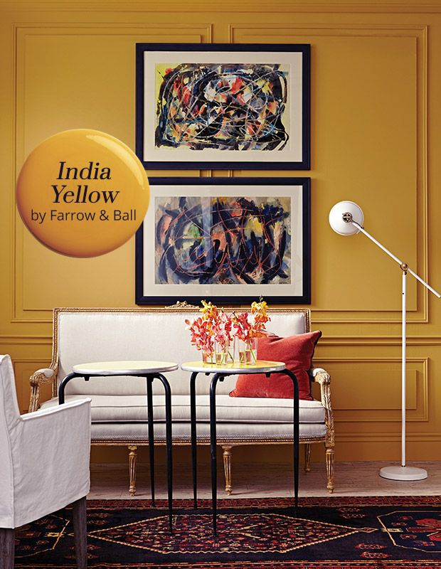 Living Room Paint Colors India Cafe Jb Color Pick Yellow By Farrow Ball Restaurant The 66 Is A Deep Marigold Hue With Palpable Warm Glow Why We Love It Bright But Not Zingy Coat Of This