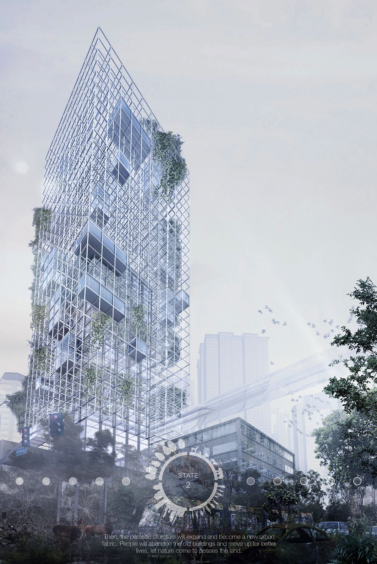 architecture blueprints skyscraper. Beautiful Blueprints The Banyan Tree Skyscraper Was Designed To Support Humans And Wildlife On Architecture Blueprints I