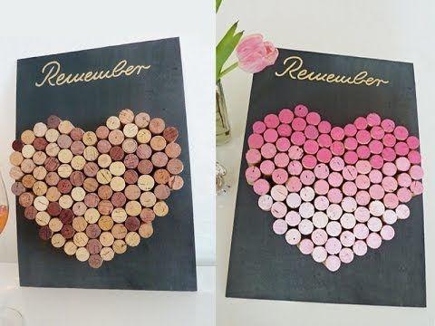 DIY: coole Pinnwand aus Weinkorken einfach selbst machen ...