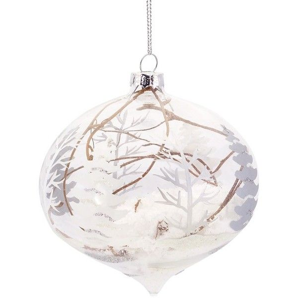 Melrose Gifts U0027Snowy Woodland Sceneu0027 Glass Ornament (27 MYR) ❤ Liked On  Polyvore Featuring Home, Home Decor, Holiday Decorations, White, Forest Home  Decor, ...