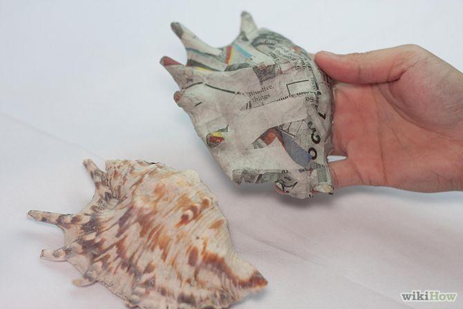Make a Papier Mâché Seashell   underwater theme   Paper