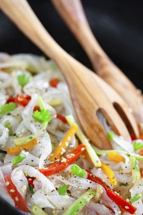 Healthy Substitutions For Pasta: Instead of white pasta, try Shirataki noodles. This Japanese wonder is made from a plant root, and, amazingly, has no calories.