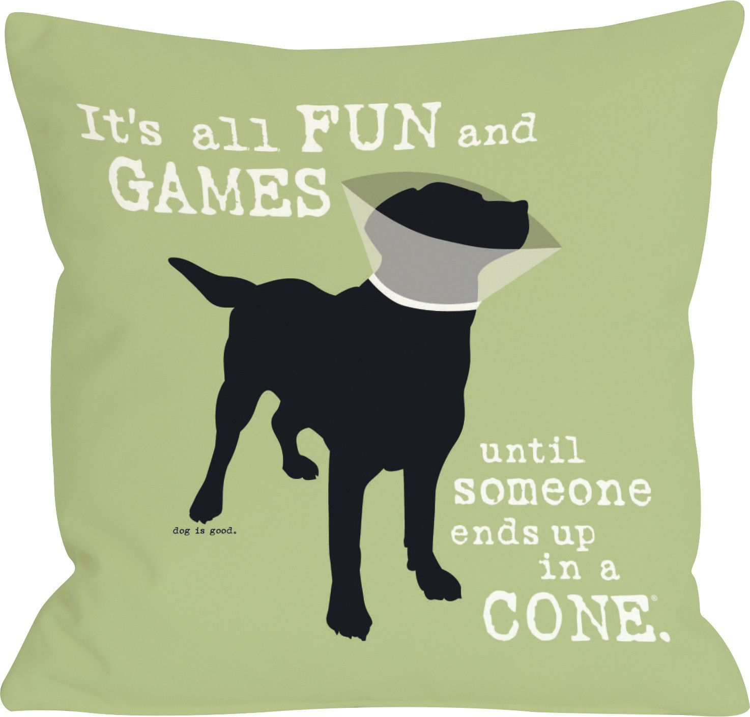 Doggy décor its all fun and games throw pillow game fun and doggies
