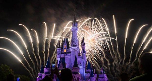 cinderellas castle purple fireworks estaban