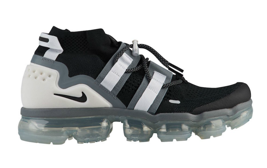 701ea2a18ed15 The Nike Air VaporMax Flyknit Utility Black Grey (Style Code  AH6834-003)  comes dressed in Black