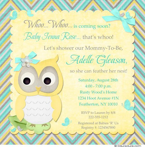 Butterfly Owl Baby Shower Invitation  Pastel Birdie Whoo Fresh