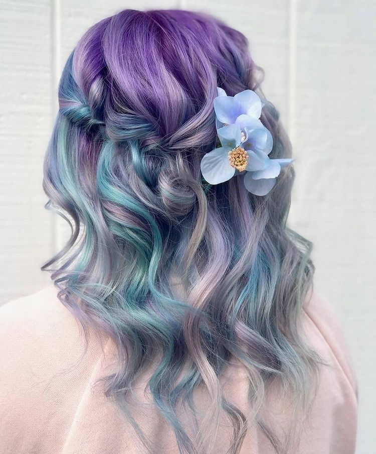 52 Ombre Rainbow Hair Colors To Try 2: Discovered By . Find Images And Videos About Pastels On