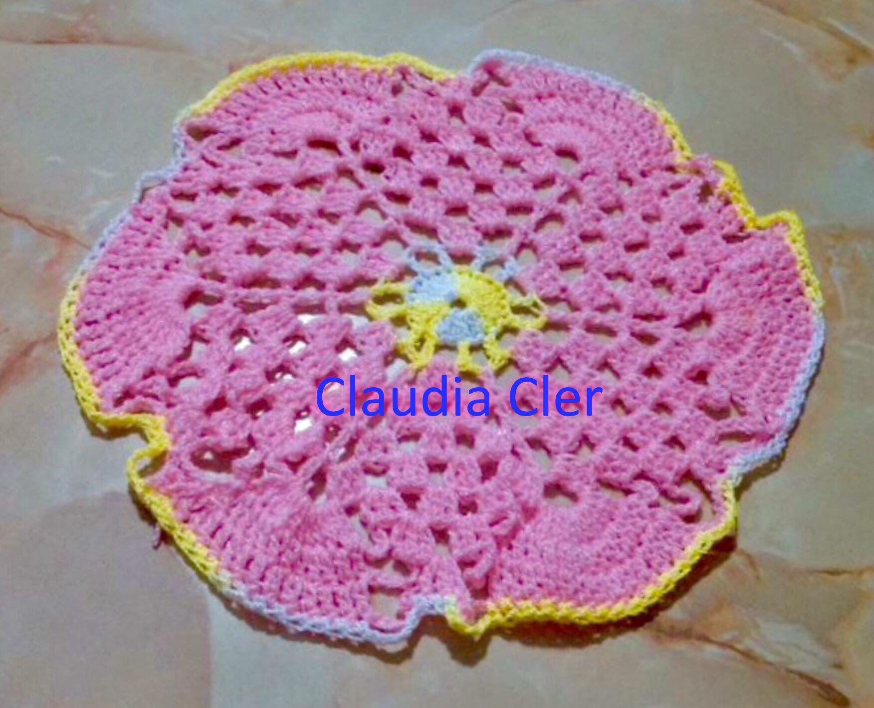Carpeta de estrella crochet