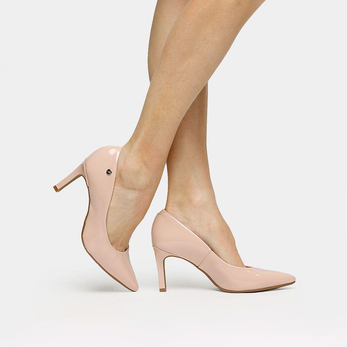01a653692 Scarpin Vizzano Bico Fino Salto Alto Nude | Zattini Saltos Scarpin, Sapato  Feminino Scarpin,