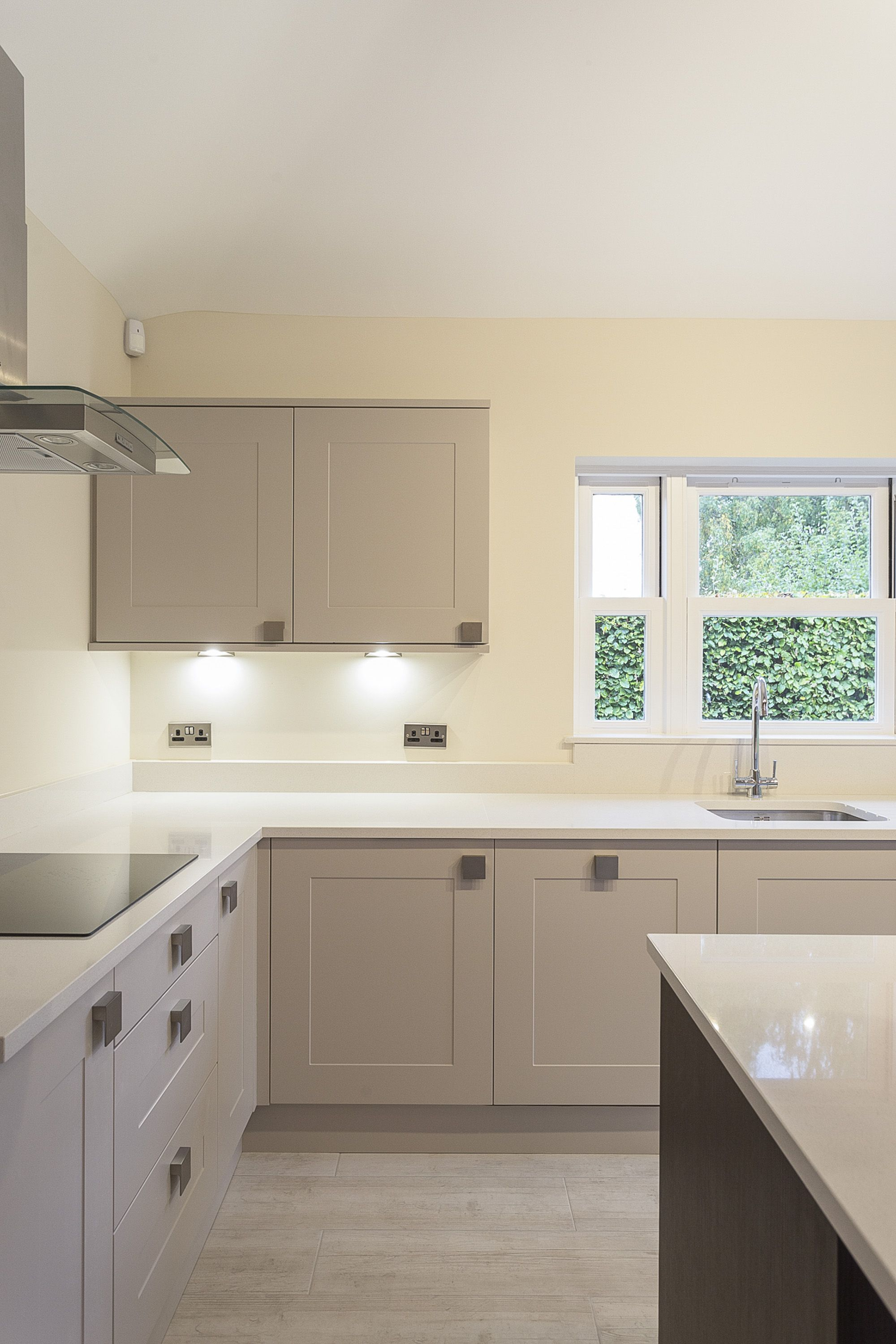 Beautiful Solent kitchen in Kashmir including Island in this