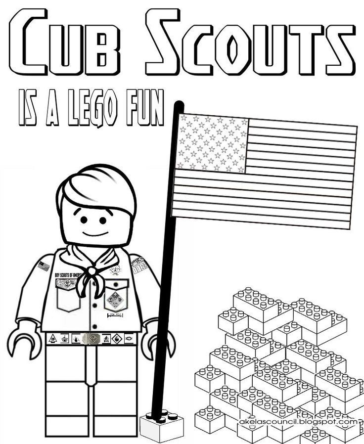 Lego * Cub Scout Coloring Page - Great for the Blue & Gold Banquet ...