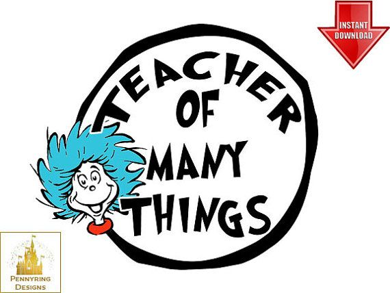 thing 1 and thing 2 clip art | Dr. Seuss Cat in the Hat Thing 1 ...
