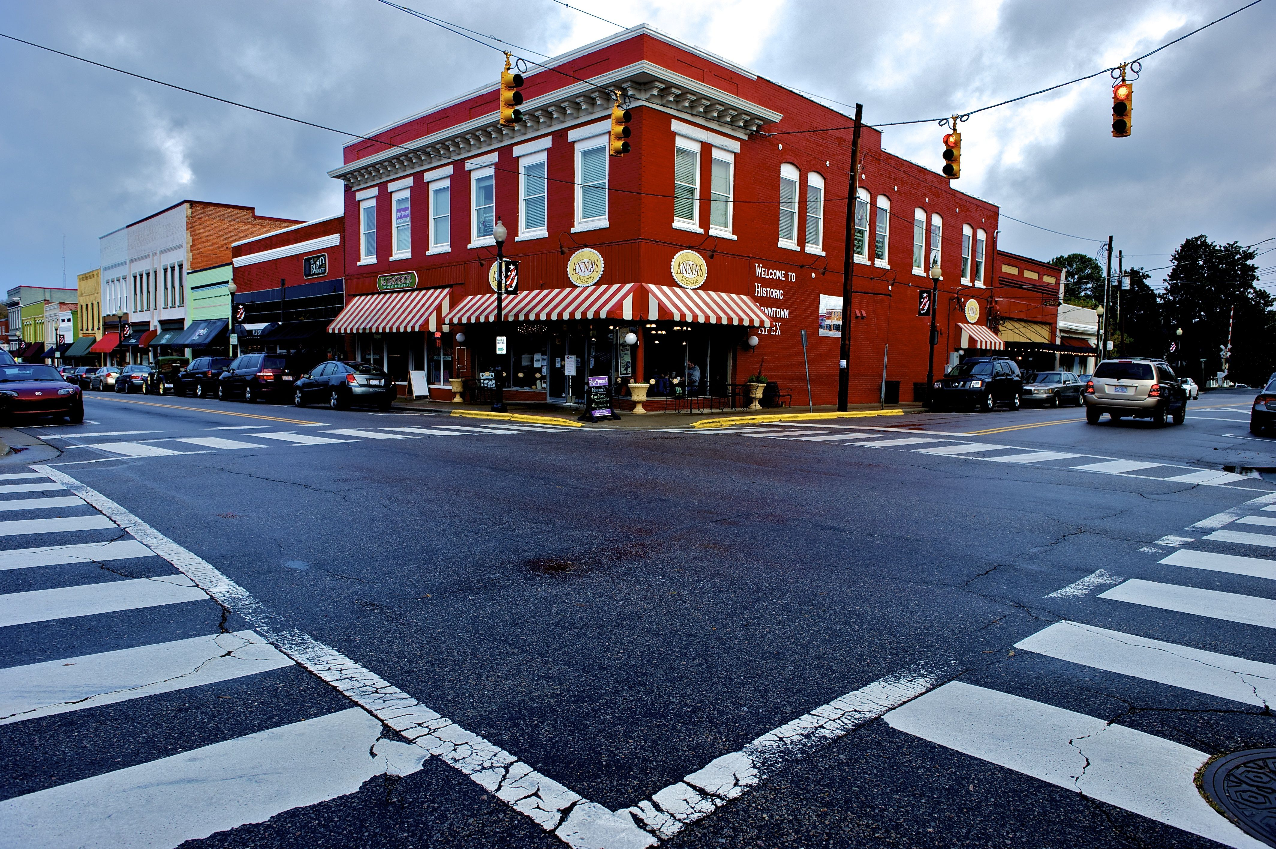 So pretty! The main corner of downtown Apex NC just a