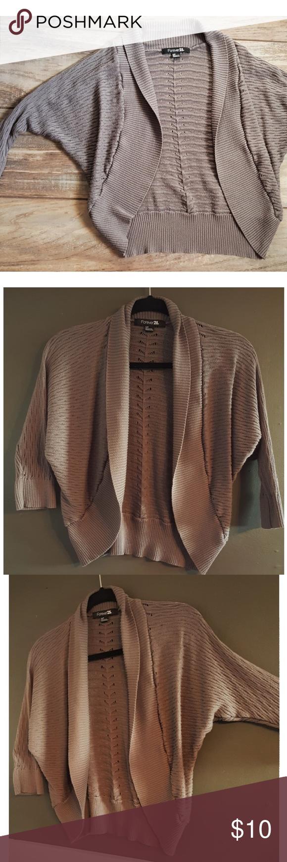 Forever 21 Gray Shrug Sweater Cardigan | Boleros, Grey shrug and 21st