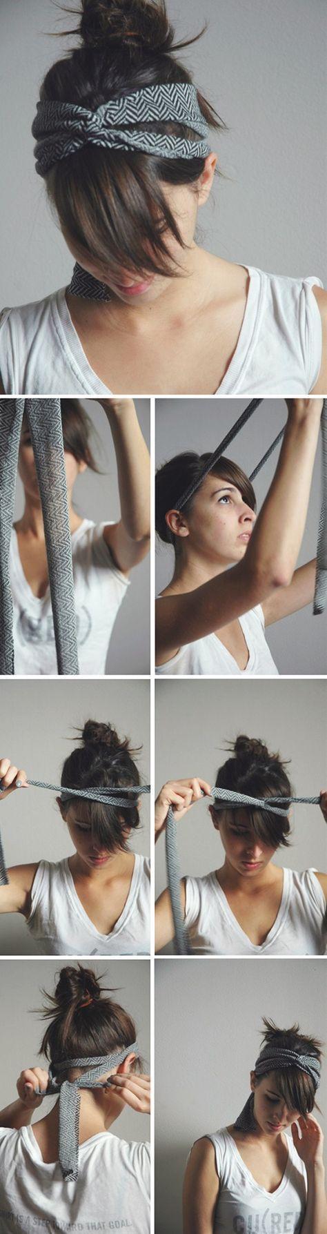 Best How To Wear A Bandana Short Hair Scarf Headbands 29 Ideas Howto