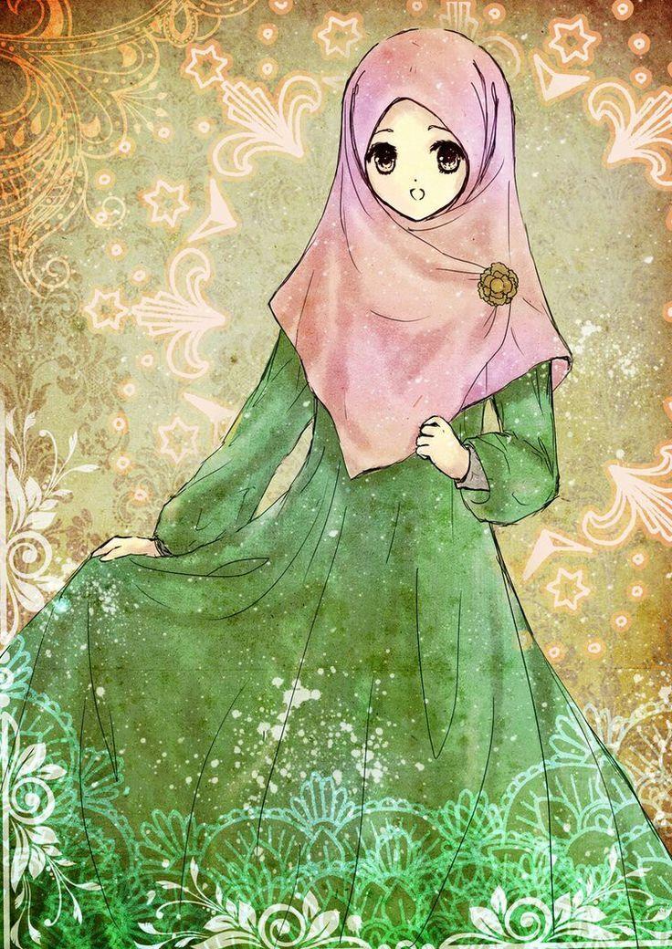 Image result for Niqab pics Anime muslimah, Anime muslim