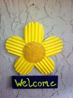 Floral Welcome Sign by KrisisKorner on Etsy, $9.00