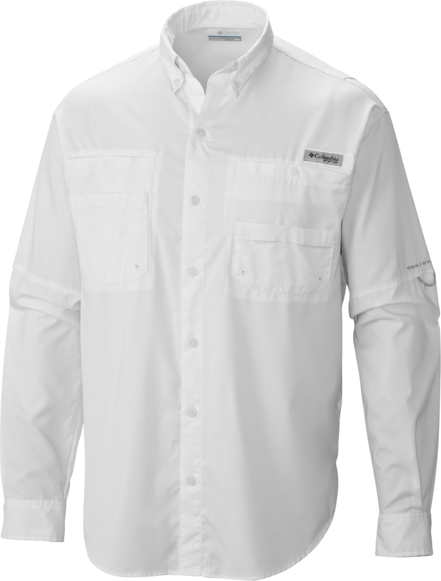 c3951449f63 Columbia Men's PFG Tamiami II Long Sleeve Shirt, Size: Small, White ...