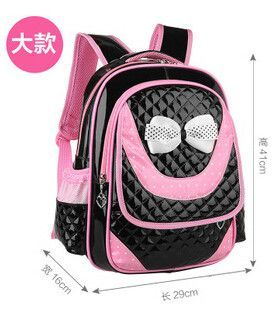 13f6b3aca400 Hot new 2017 PU Leather girls school bag good quality children school bags    kids backpack Grades 1-3-6
