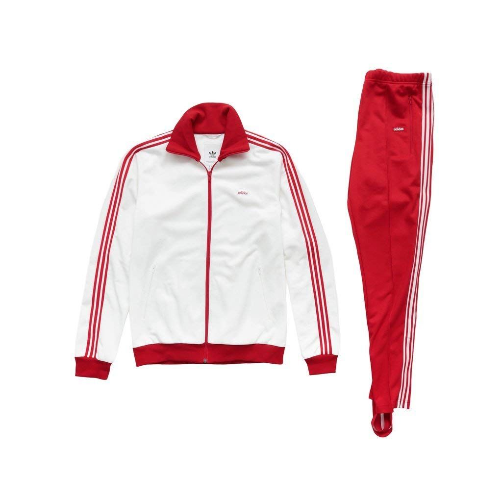 fb82ebae1b3c Adidas Men The Bechenbauer Tracksuit - Made in Germany white and red Price    318.99   FREE Shipping