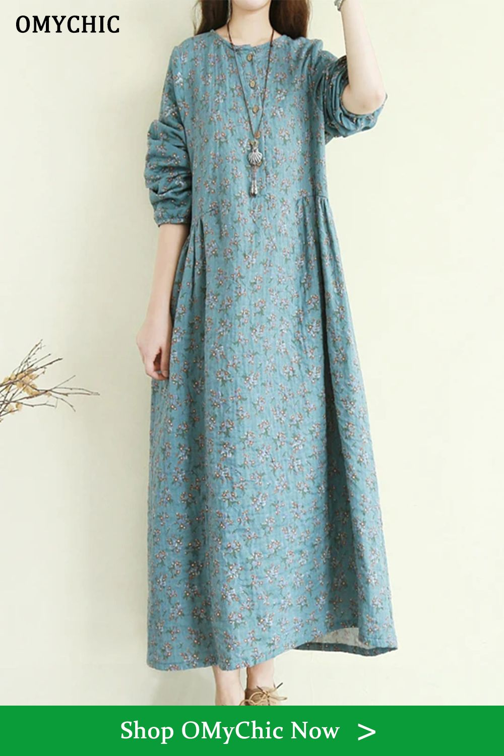Women O Neck Button Down Cotton Dress Top Quality Sleeve Blue Floral Maxi Dresses In 2021 Blue Floral Maxi Dress Cotton Dresses Maxi Dress [ 1500 x 1000 Pixel ]