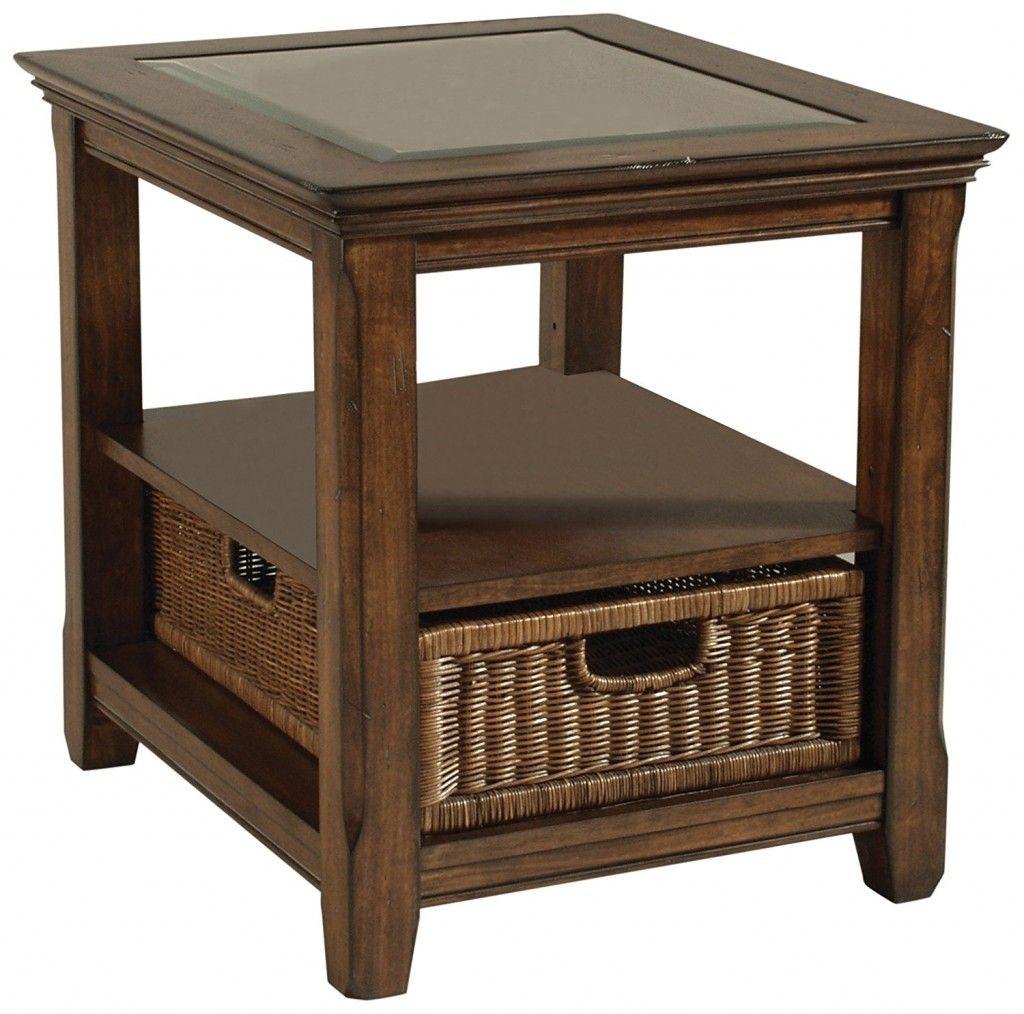 Magnussen Rectangular End Table Living Room