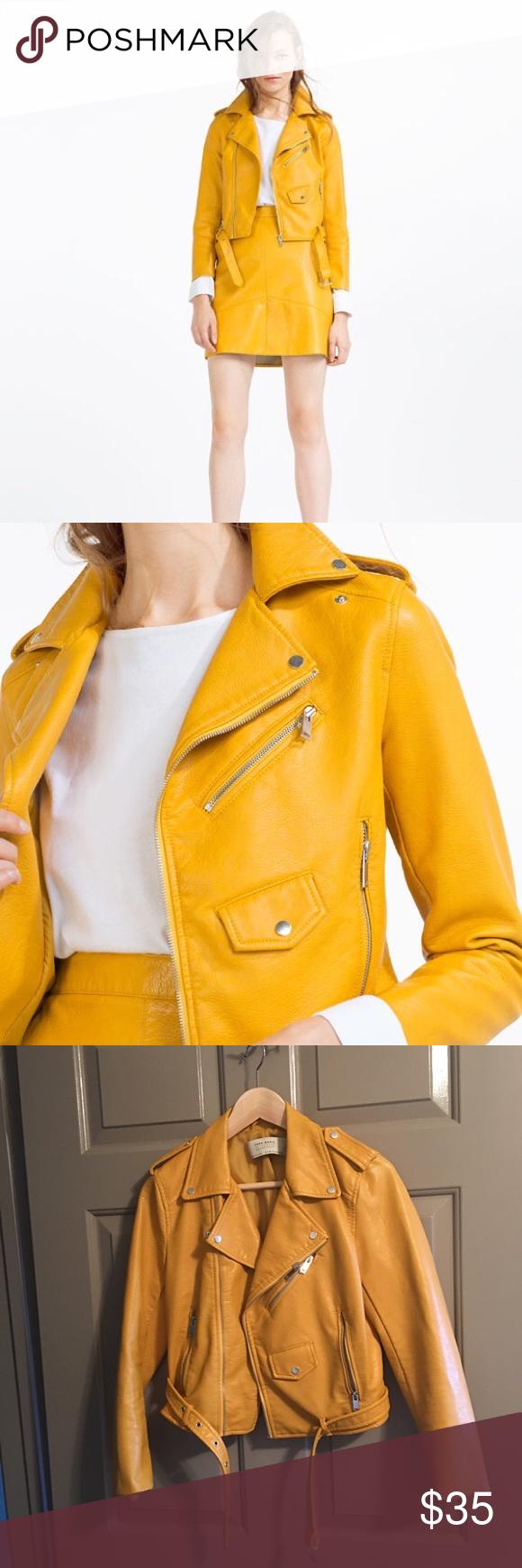 Faux leather jacket Leather jacket, Jackets, Zara jackets