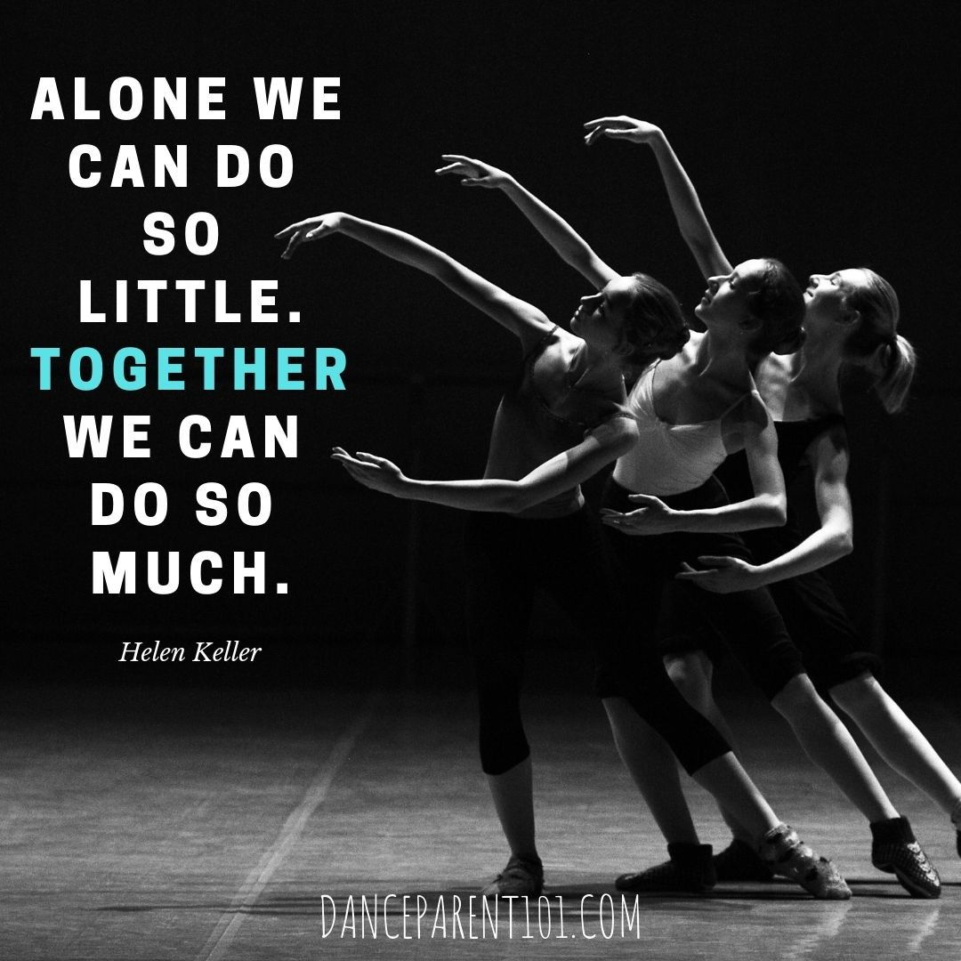 @wwwdanceparent101 Posted To Instagram: Alone We Can Do So