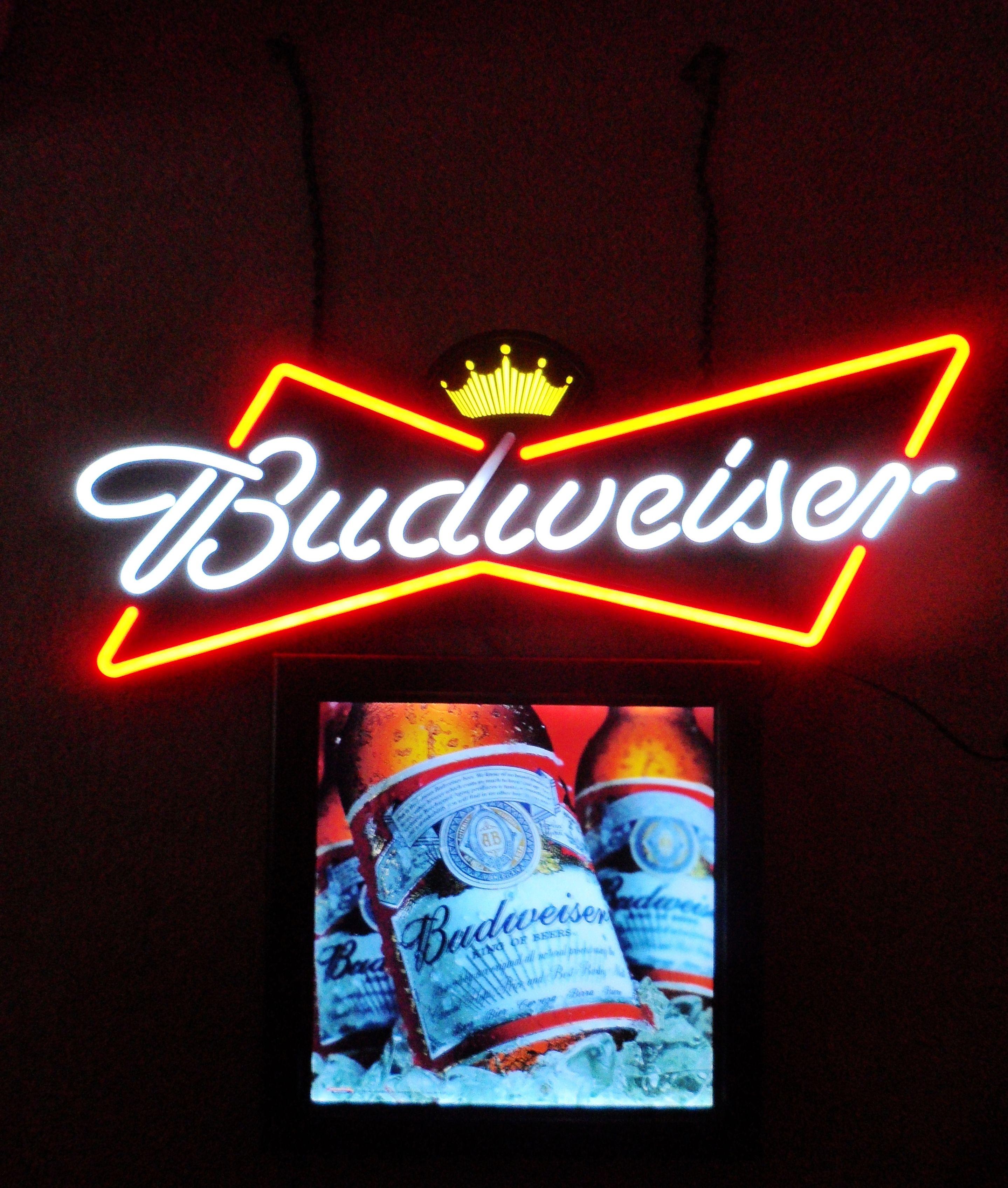Vintage Stadium Lights: Vintage Budweiser Neon, Circa 1990's