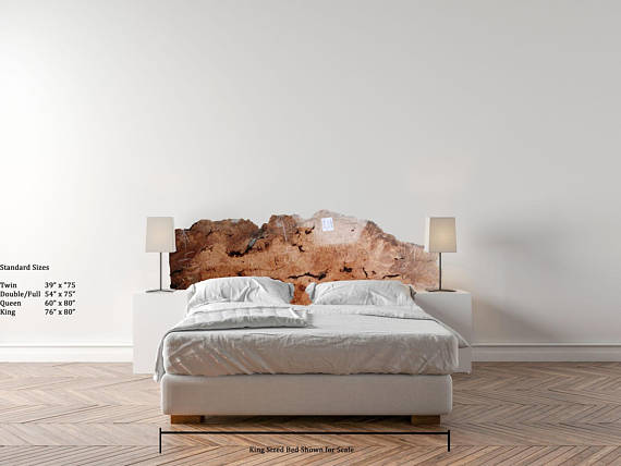 reputable site c9a1c 04bbc Wooden Headboard King Size Live Edge Big Leaf Figured Maple ...