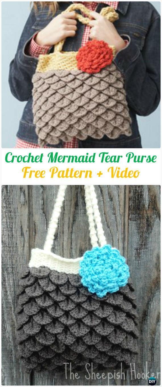 Crochet Clutch Bag & Purse Free Patrones Instrucciones