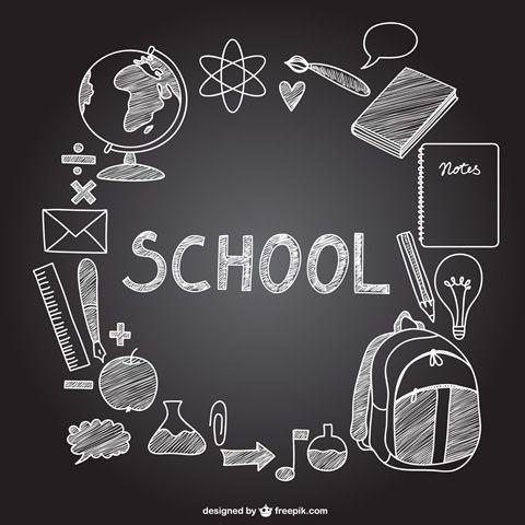 Vectores Relacionados Con La Educacion Gran Recopilacion Dibujo De Escuela Arte De Pizarra Disenos De Pizarra